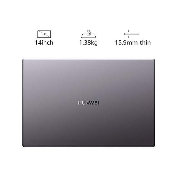 HUAWEI MateBook D 14 2020 - Laptop with FullView 1080P FHD Ultrabook PC (AMD Ryzen 5 3500U, 8 GB RAM, 512 GB SSD, Windows 10 Home, Multi-screen Collaboration 5