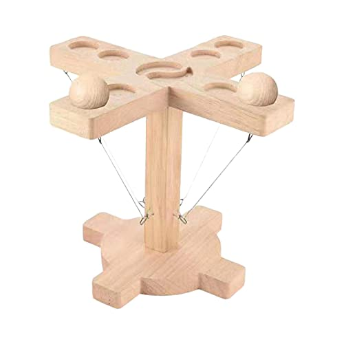 flouris Ring Toss Game For Kids Adults, Ring Toss Bimini Games, 4 Player Ring Toss Tabletop Ringo Game, Wooden Ring Toss Hooks Fast-paced Interactive Game For Bars Home