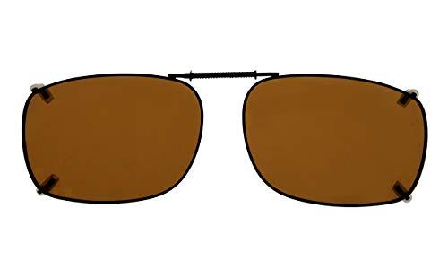 Eyekepper 58x38 MM Clip auf Sonnenbrillen mit Frühlings-Zugdeichsel Polarisiert Braun Linse