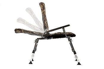 Chaise de pêche Carp F5R - Chaise de camping de luxe pour la pêche à la carpe - Avec hauteur supplémentaire