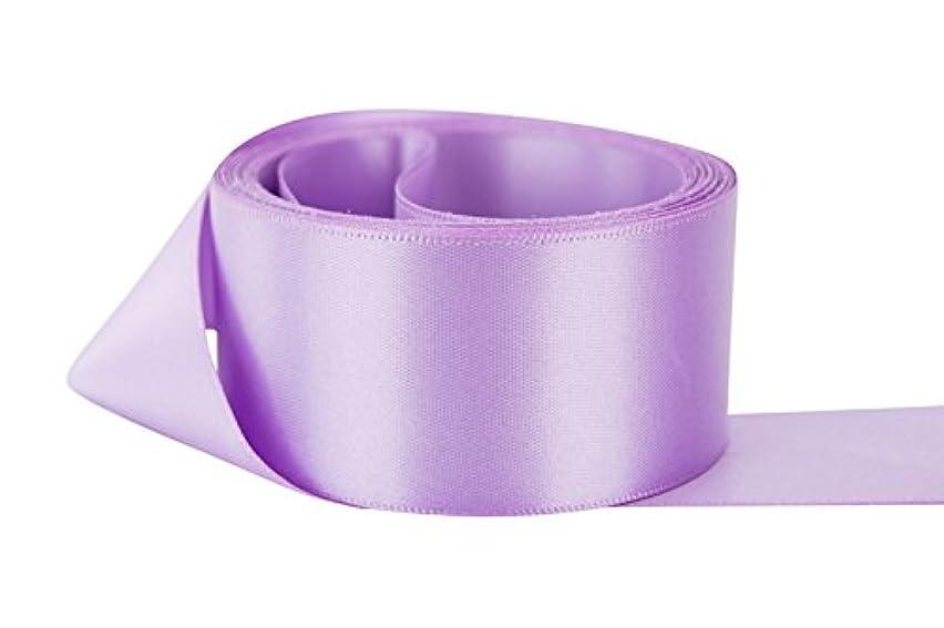 Ribbon Bazaar Double Faced Satin 1-1/2 inch Lilac 50 Yards 100% Polyester Ribbon