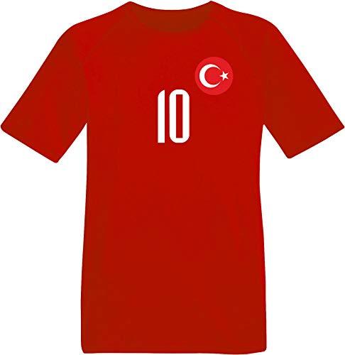 aprom Türkei Türkiye Kinder Trikot BR Cocok Forma No.10 Milli Takim Futbol SPOR Fussball (116)