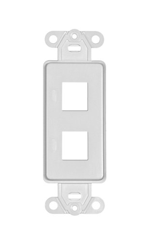 Offex OF-302-2D-W Decora Wall Plate Insert, 2 Hole for Keystone Jack, White