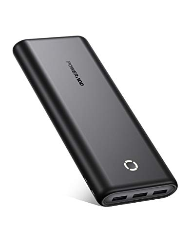 POWERADD Power Bank, EnergyCell 26800, 26800mAh High Capacity Charging Bank, Fast Charging Battery Pack with Dual Inputs and 3 Output Ports, for iPhone, Samsung Galaxy, AirPods and More