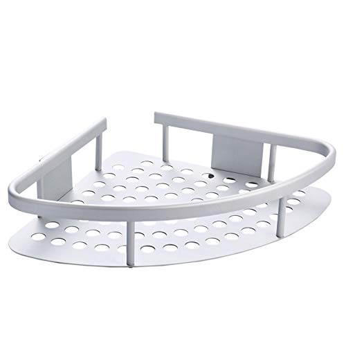 Wangel Estantería de Esquina para Baño Ducha, Pegamento Patentado + Autoadhesivo, Aluminio, Estantes