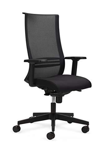 Nowy Styl Chefdrehstuhl, Drehstuhl, Bürostuhl, stoff, grau und schwarz, Einheitsgröße