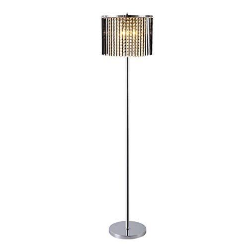 Luxe staande lampen, moderne led zwart glas hanger chroom roestvrij staal verticale staande lamp postmodern slaapkamer woonkamer vloer bureau licht Nordic sofa verlichting vloerlampen, 3-kleuren licht