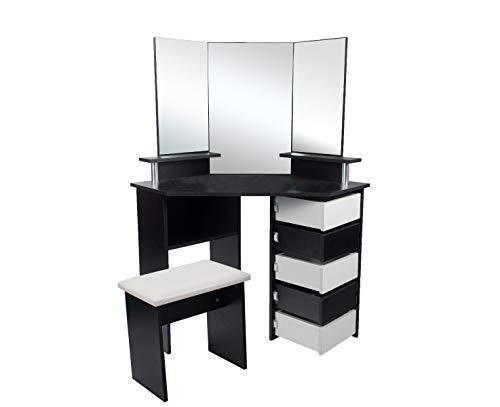 Kaptafel Daphie met zitbankje en spiegel