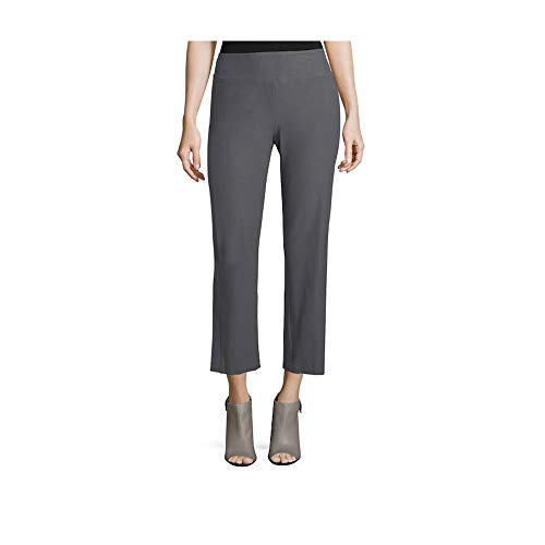 Eileen Fisher Bark Washable Stretch Crepe Slim Boot Cut Pant 1X 3X (1X)