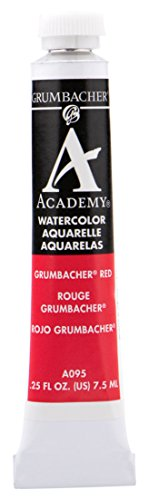 Grumbacher Academy Watercolor Paint, 7.5ml/0.25 Ounce, Grumbacher Red (Naphthol) (A095)