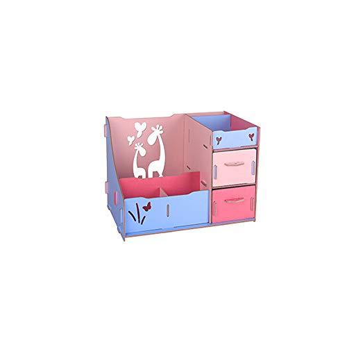 Boîte de rangement cosmétique avec tiroir salle de bain/chambre à coucher de bureau porte-balai en bois grande capacité boîte de montage,#4