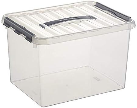 Sunware 78800609 H6160402-Caja con asa (22 L), transparente: Amazon.es: Bricolaje y herramientas