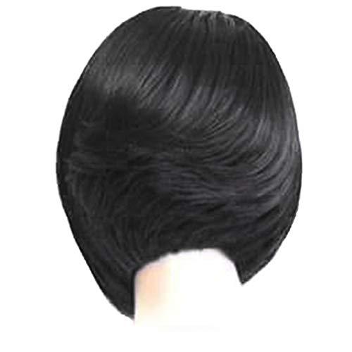 Damen Perücke, Kurzhaarfrisur, Super Natural Pixie, Bob-Stil, modisch, blond, hitzebeständig, Synthetik, wie echtes menschliches Haar