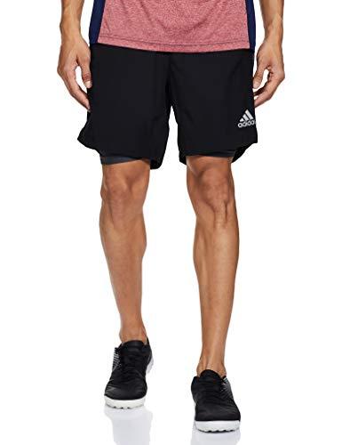 "adidas Herren Shorts Own The Run Two-In-One, Black/Grey, M 7\"", FS9809"