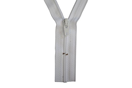 GIM Reißverschluss weiß 70 cm für Bettwäsche Kopfkissen Bettbezüge schließbare Länge