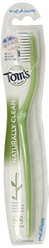 Naturally Clean Medium Toothbrush, 0.5 Ounce by Tom's of Maine