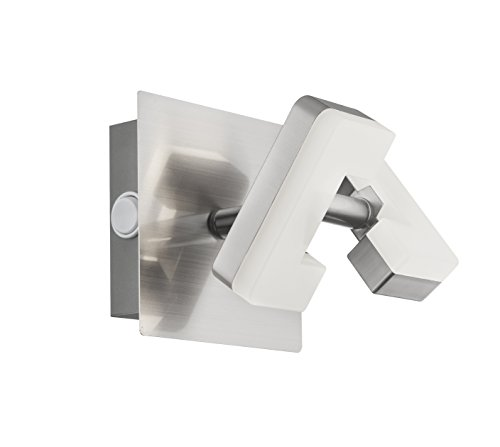 WOFI A+ LED Wandspot Metall 5.2 W Integriert 100 x 120 x 100 cm, Nickel matt 4026.01.64.5000