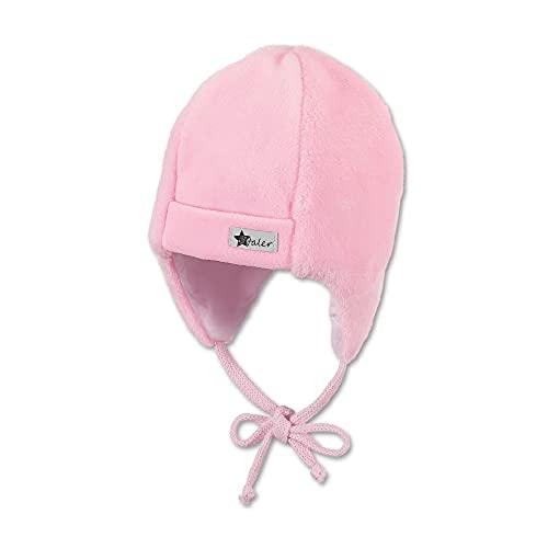 Sterntaler Baby-Mütze für Mädchen mit Ohrenklappen und Bindebändern, Alter: 6-9 Monate, Größe: 45, Rosa
