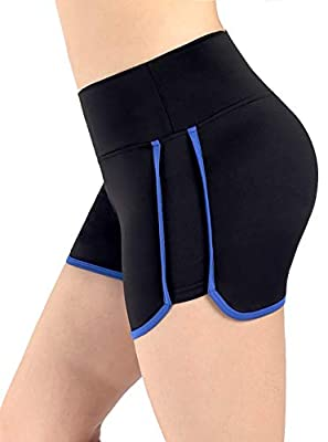 Neonysweets Womens Yoga Shorts Fitness Gym Workout Short Pants