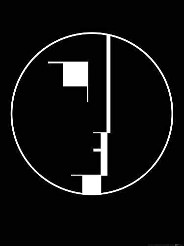 1art1 Oskar Schlemmer - Staatliches Bauhaus, Logo, 1922 Poster Kunstdruck 80 x 60 cm