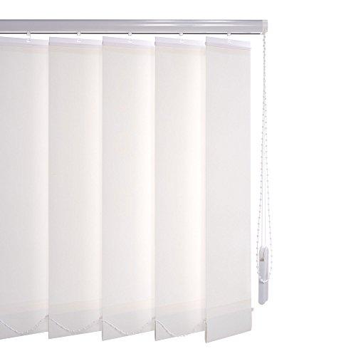 Liedeco Vertikalanlage Lamellenanlage Lamellenvorhang Vertikaljalousie | Lamellenbreite 89 mm | Höhe 180 cm, oder 250 cm | kürzbar | weiß (220 x 180 cm)