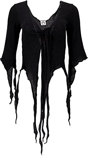 GURU SHOP Pixi - Cárdigan corto de algodón para mujer Negro M - L