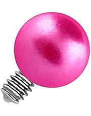 VOTREPIERCING Perla Falsa Rosa para Piercing Microdermal Estándar x 3 mm