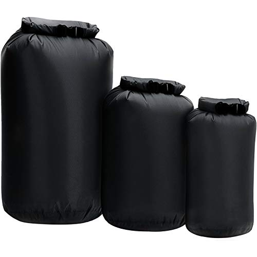 Lixada Bolsa seca impermeable 3pcs Roll Top Dry Sack para kayak, canotaje pesca natación
