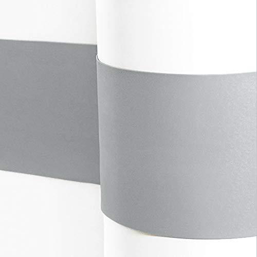 Sossai® Flexibler Wandschutz SERPENT Länge: 2 Meter   Höhe 110mm   Selbstklebend   Wandschutzfolie Kantenschutz Schmutzschutz Flurleiste Rammschutz   Farbe: Hellgrau