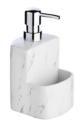 Dispenser per sapone liquido Festival Marmor, ricaricabile, con superficie soft touch, 0,38 l