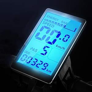 Pantalla de Bicicleta eléctrica GUNAI, Velocidad, Voltaje de visualización, medidor, energía de la batería