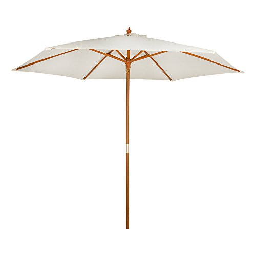 Aktive - Parasol hexagonal Garden 3 metros - Mástil de madera 48 mm - Color vainilla (ColorBaby 53863)