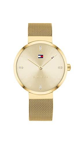 Tommy Hilfiger Analoog Quartz Horloge voor dames met roestvrij stalen band 1782217