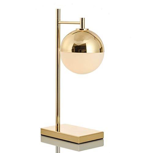 Jiji tafellamp, bureaulamp, goudkleurig, studio, slaapkamer, bedlamp, modern, creatief, tafellamp, bol, bureaulamp, bedlamp, leeslamp, slaapkamer