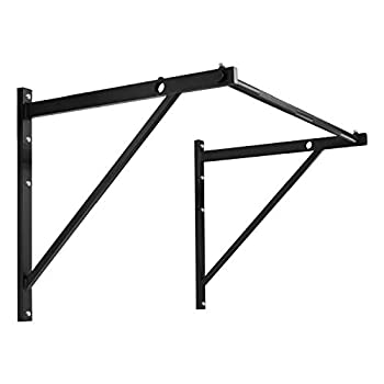 Yes4All Heavy Duty Wall Mounted Pull Up Bar for Crossfit Training – Chin Up Bar/Pull Up Bar Wall Mount – Support up to 500 lbs  Black