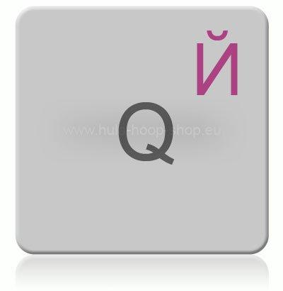 hoopomania Russische Tastaturaufkleber für Mac (Apple), transparent mit Schutzschicht, русские наклейки, in ROSA