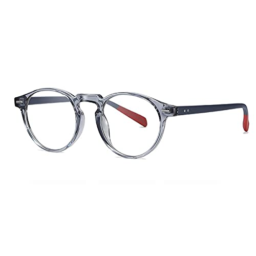 TYTG Gafas de sol de ordenador Gafas de rayos azules para hombre y mujer, lentes ópticos fotocromáticos, filtro de videojuegos, para uso diario (Lenses Color: Gris Marco)