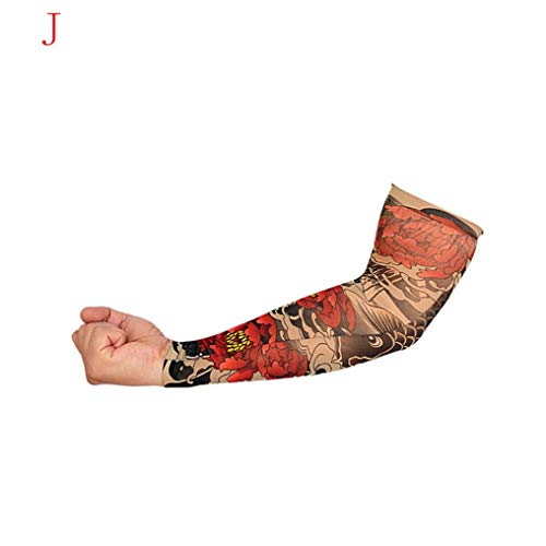 bescita Nylon Hohe Elastizität Tattoo Ärmel | Unisex Nylon Temporäre Tattoos Arm Tätowierung Armstrümpfe Tattoo Strumpf Arm | UV-Schutz Atmungsaktiv Kühlen (J)