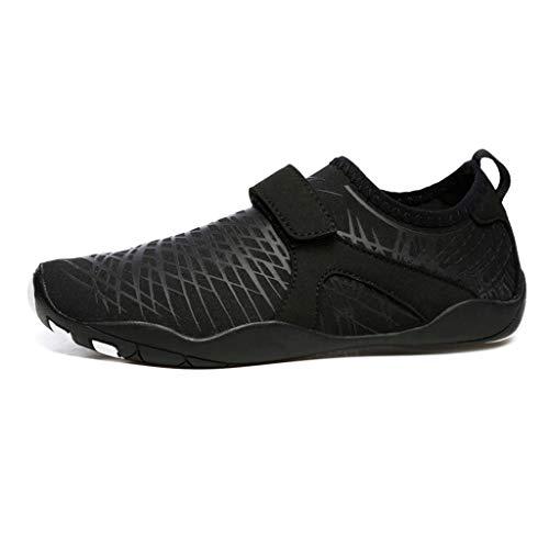 QQSX Indoor Fitness Laufband Turnschuhe Atmungsaktiv Leichtgewicht Yoga Trainingsschuhe Herren Und Damen Wasserschuhe Strand Soft Bottom Schuhe (Color : Black, Size : 39-40)