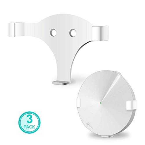 ALLICAVER Compatible Wall Mount Tp-Link Deco M9, Sturdy Metal Made Mount Stand Holder Compatible Tp-Link Deco M9 Mesh WiFi. (3-Pack)