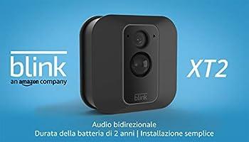 Blink XT2 (Seconda Generazione) | Telecamera di sicurezza per interni/esterni con archiviazione sul cloud, audio...
