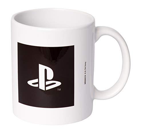 Tasse - PlayStation Logo schwarz-weiss