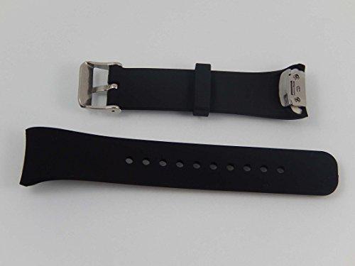 vhbw Ersatz Armband kompatibel mit Samsung Gear Fit 2 SM-R360 Fitnessuhr, Smartwatch - 11.9cm + 8.7 cm Silikon schwarz
