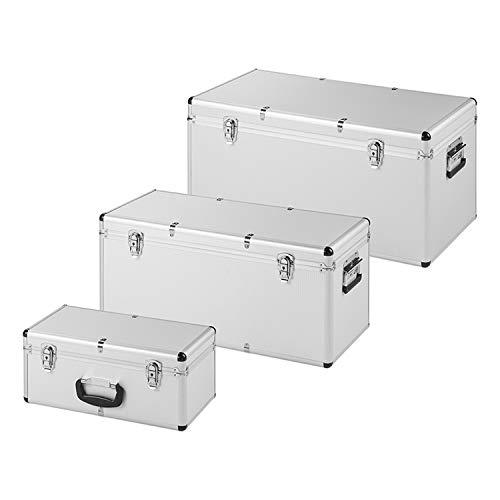 PAT Europe B.V. Aufbewahrungsbox 3er Set Kasten Lagerbox Campingkiste Silber