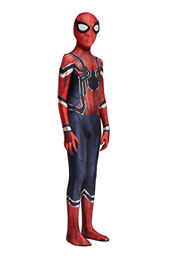 Jarry The Amazing Spiderman Iron Spider Halloween Unisex Adult/Kids Fullbody Cosplay Costume Suit