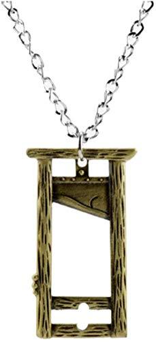 NC188 Collar de Guillotina para Hombre, joyería Vintage, revolución Francesa, Espeluznante, Colgante de Arte de Halloween, Collar, Regalos