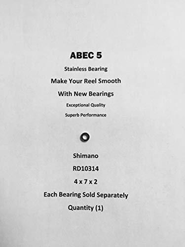 Shimano Sahara 1000FD Line Roller Bearing RD10314 ABEC5 Stainless 4x7x2#05