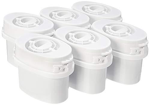 Amazon Basics - Cartuchos de filtro de agua, paquete de 6 filtros aptos para las jarras Aqua Optima y Brita MAXTRA (excepto jarras con filtro MAXTRA+)