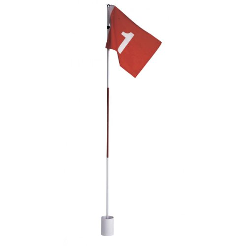 Silverline Golf Flag Set, Golffahne mit Golfloch