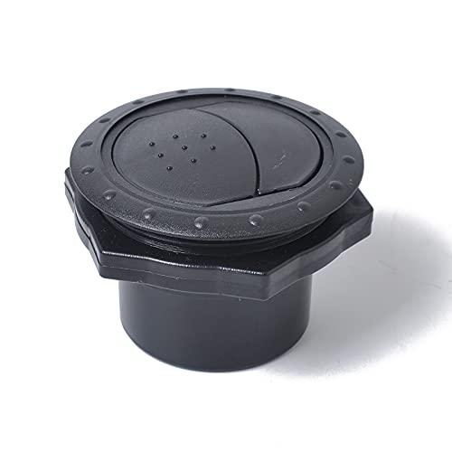bysonice Pieza de Salida de Aire del Coche Pieza de Salida de Aire del Coche Calentador de ABS Redondo Cabezal de dirección Salida de Aire Acondicionado Universal sólida para Coche Reemplazo